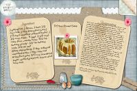 Recipe Card 3 pound cake