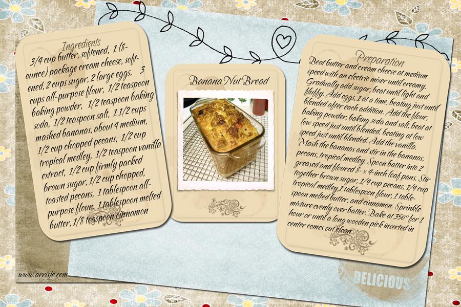 banana bread recipe card - photo #8
