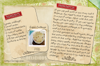 Green Cabbage Recipe Card