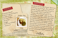 Cordon Bleu recipe card