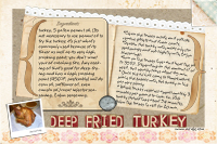 Deep Fried Turkey recipe card