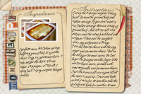Recipe Card Lasagna