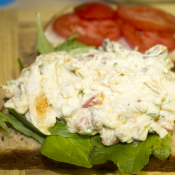 Peach Chutney Chicken Salad