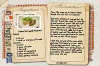 Baked Eel with Mustard Sauce Recipe Card