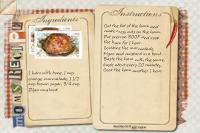 Recipe Card Baked Ham