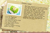 Chicken Salad Recipe Card