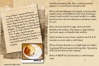 Recipe Card Parmesan Chicken