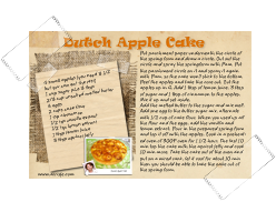 Recipe Card Dutch Apple Cake