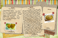 Atjar Tjampoer Recipe Card