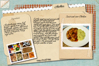 recipe Card sweet and sour chicken