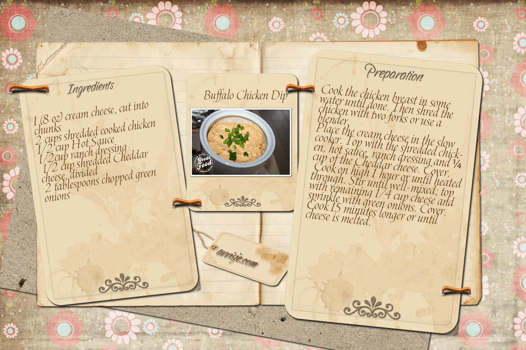 Buffalo Chicken Dip Recipe Card