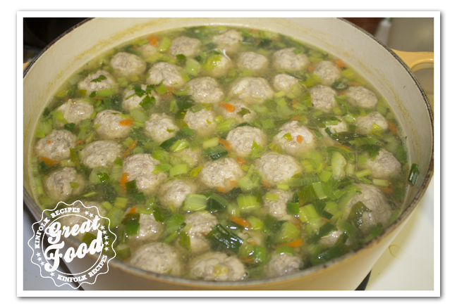 Vegetable Soup with Balls