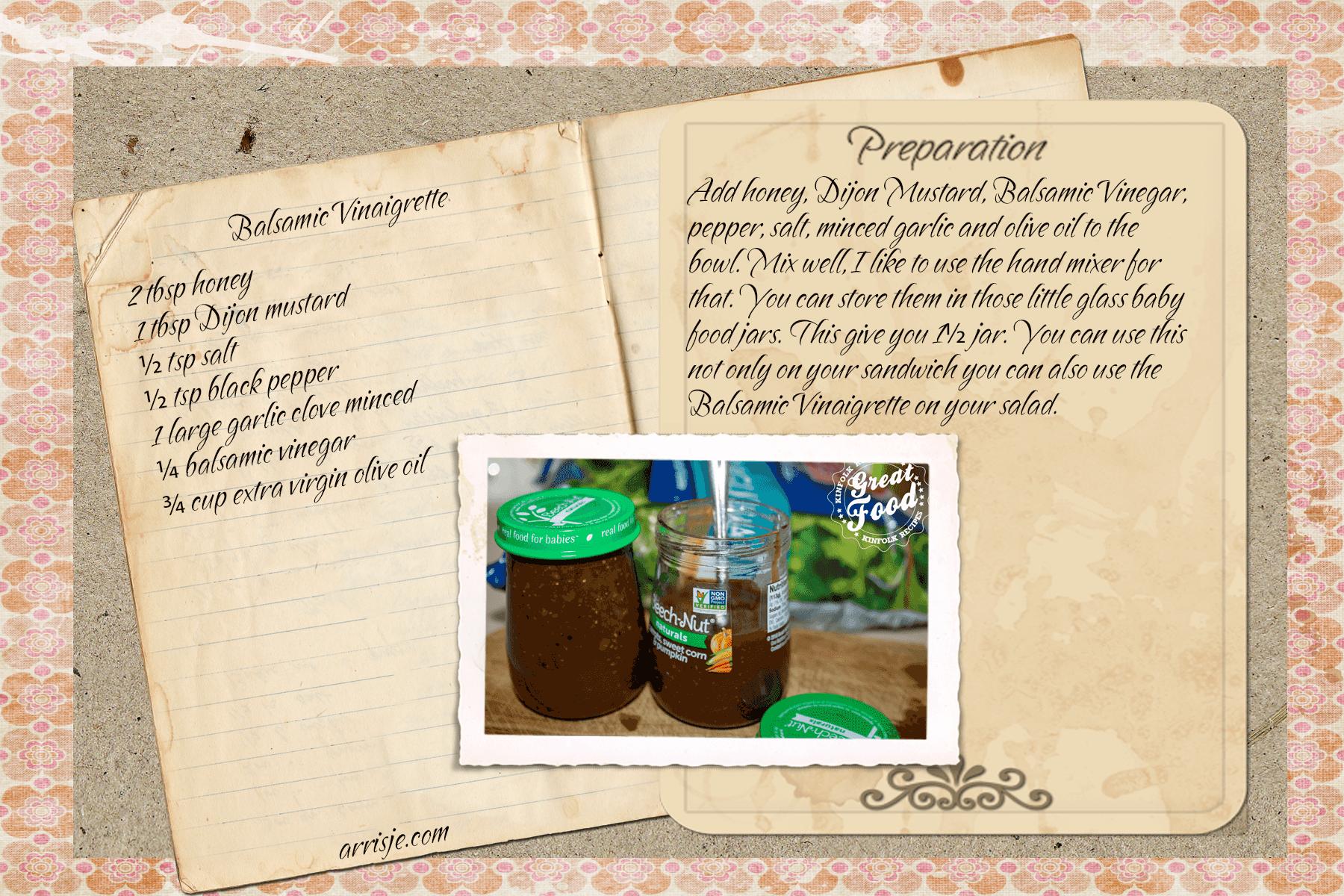 Recipe Card Balsamic Vinaigrette
